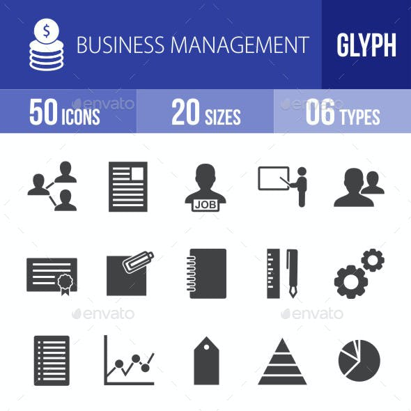 Business Management Glyph Icons