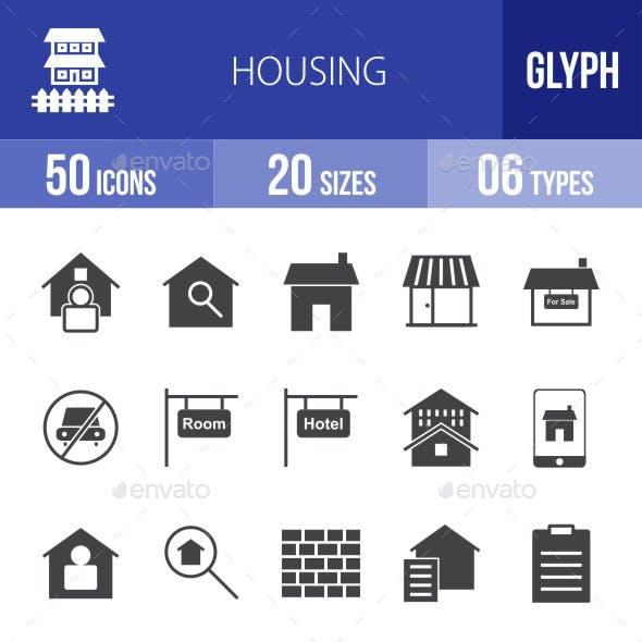 Housing Glyph Icons