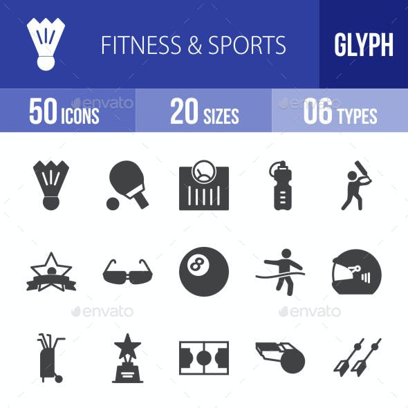 Fitness & Sports Glyph Icons