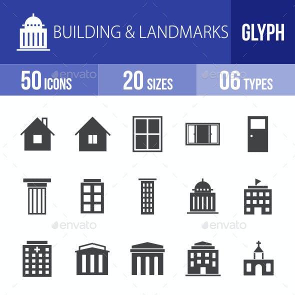 Buildings & Landmarks Glyph Icons