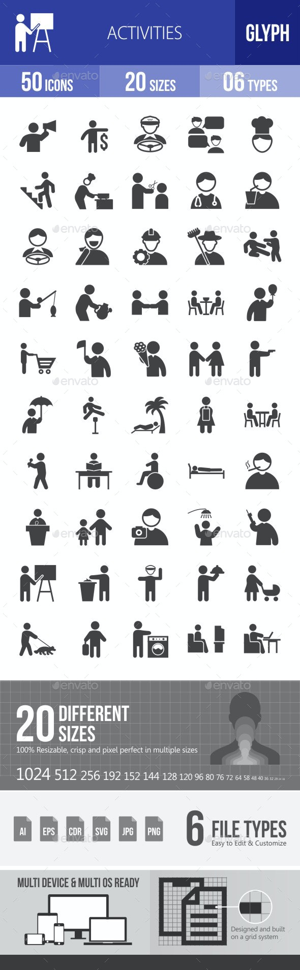 Activities Glyph Icons - Icons