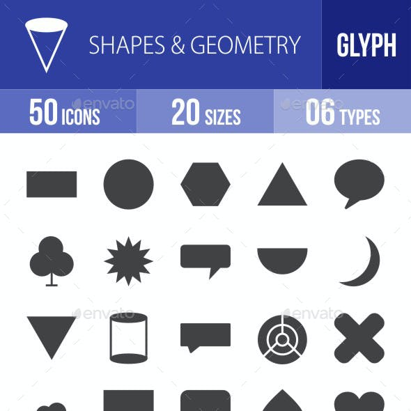 Shapes & Geometry Glyph Icons
