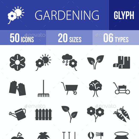 Gardening Glyph Icons