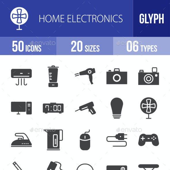 Home Electronics Glyph Icons