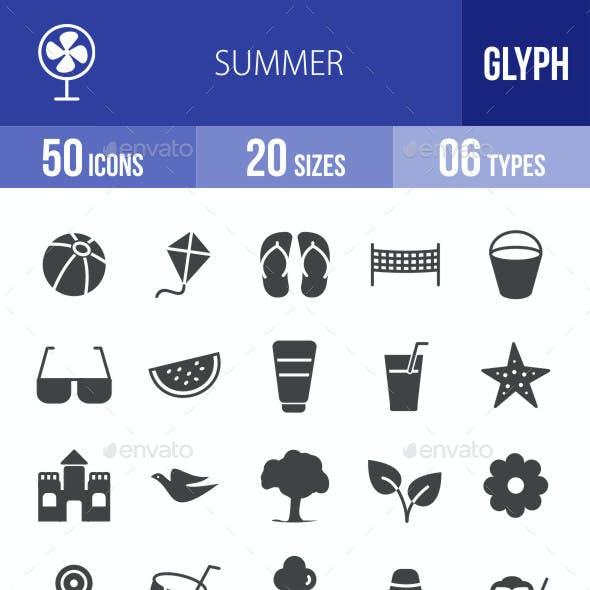 Summer Glyph Icons