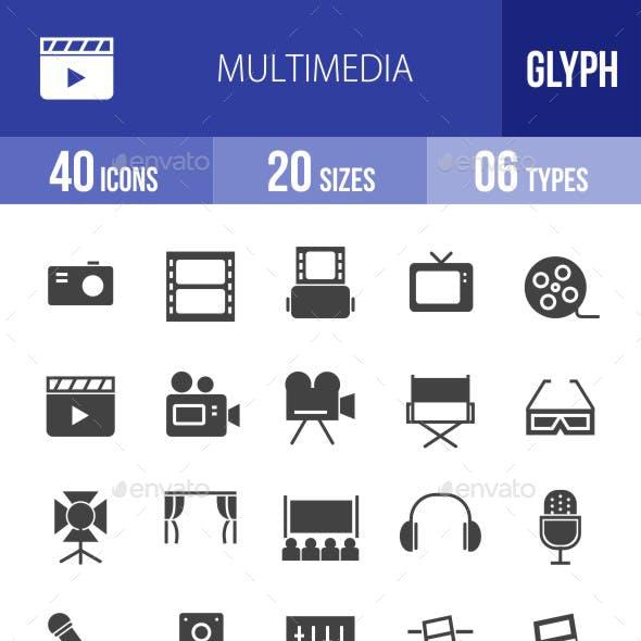 Multimedia Glyph Icons