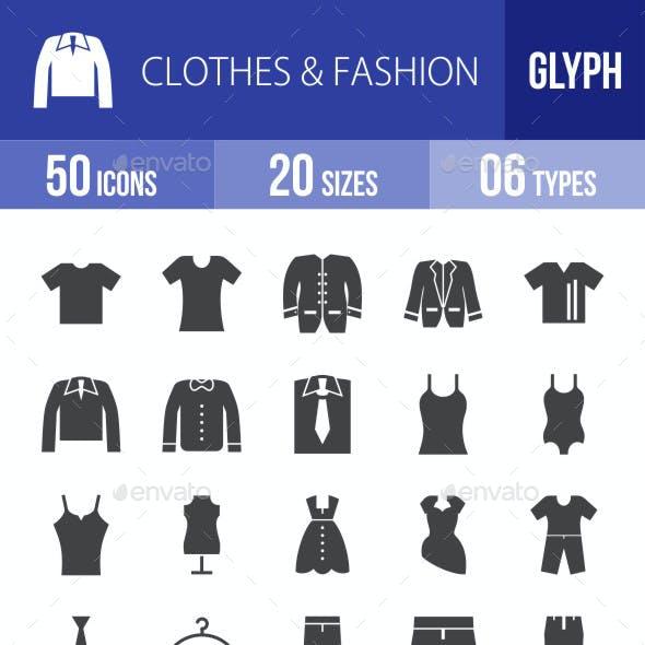 Clothes & Fashion Glyph Icons