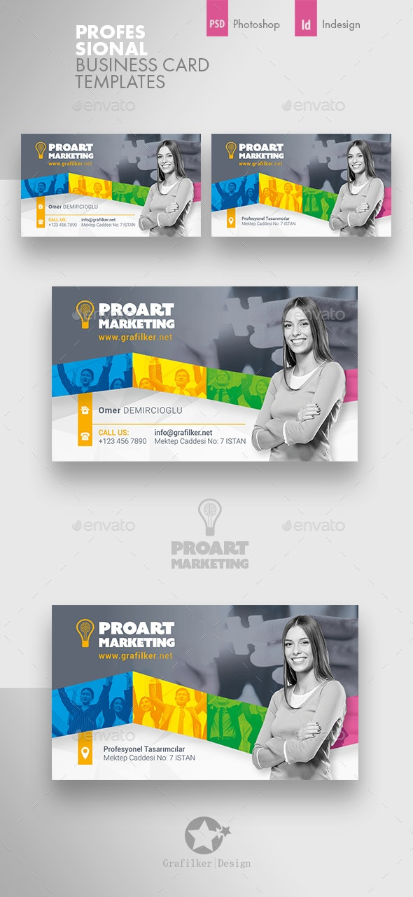Marketing Business Card Templates - Corporate Business Cards