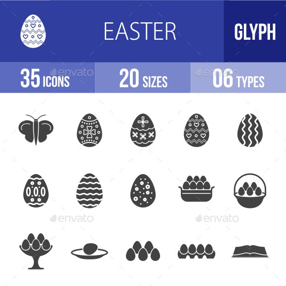 Easter Glyph Icons
