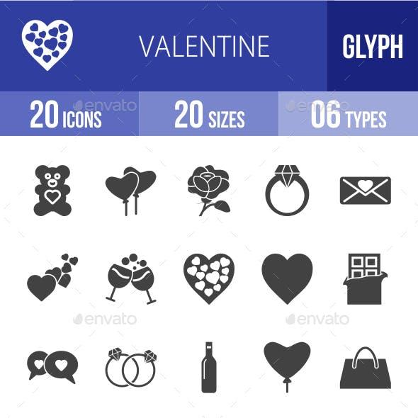Valentine Glyph Icons