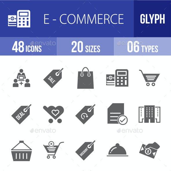 Ecommerce Glyph Icons
