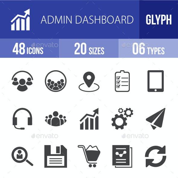 Admin Dashboard Glyph Icons
