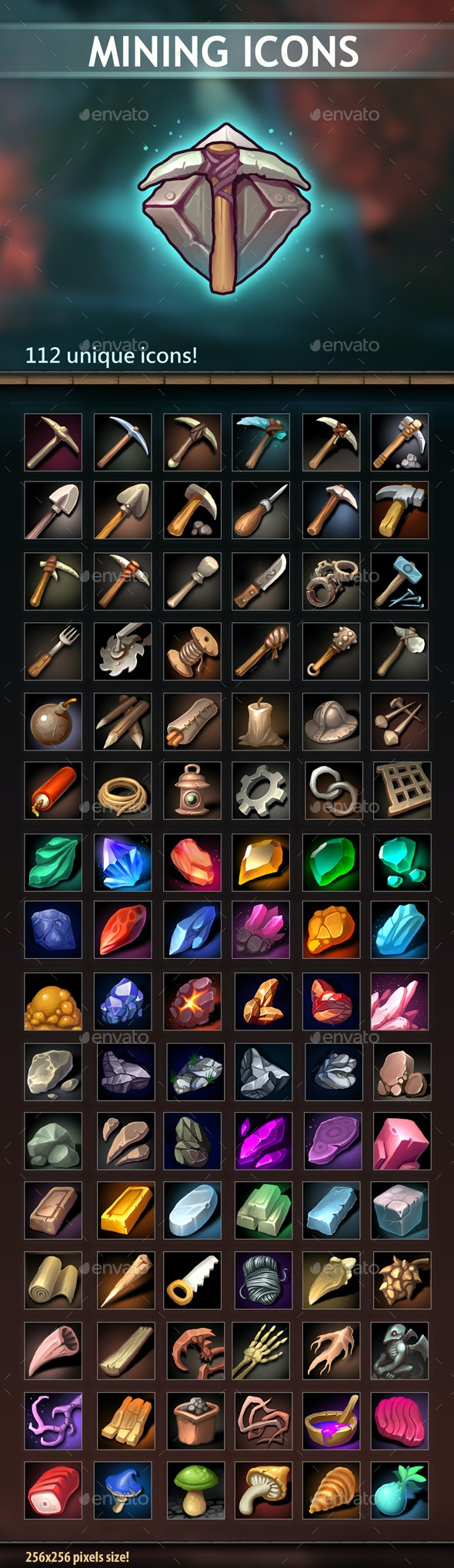 Mining Icons - Miscellaneous Game Assets