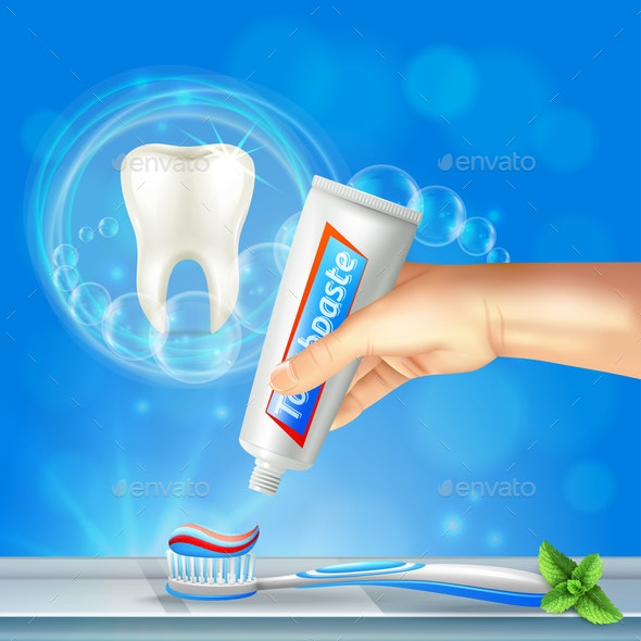 Tooth Dental Care Realistic - Health/Medicine Conceptual