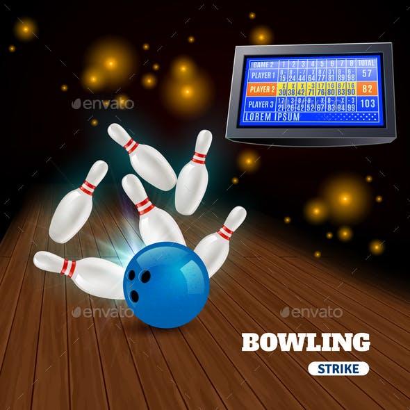 Bowling Strike Illustration