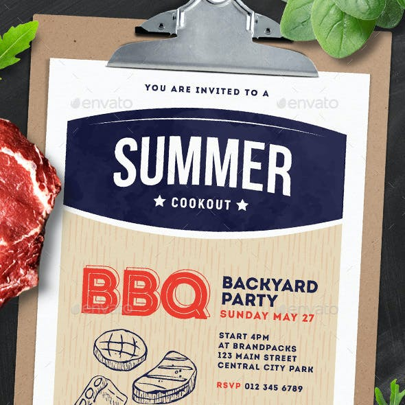 Cookout / BBQ Flyer & Poster
