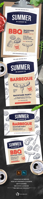 Cookout / BBQ Flyer & Poster - Restaurant Flyers