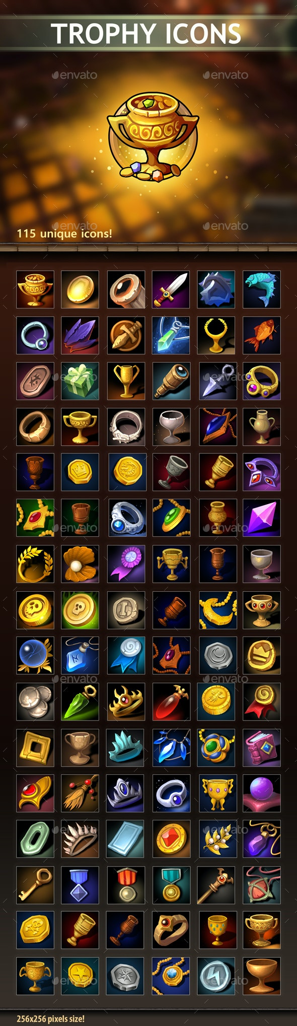 Trophy Icons - Miscellaneous Game Assets