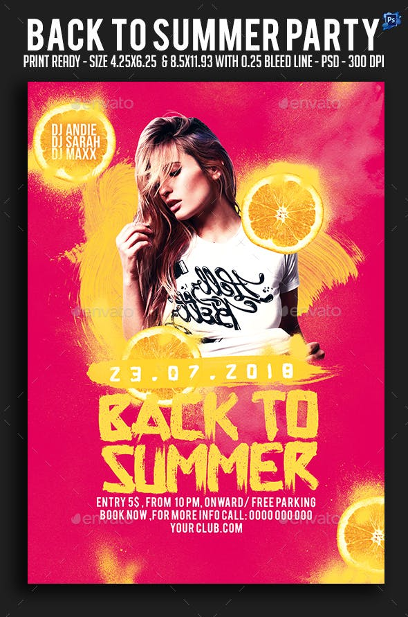 Back To Summer Party Flyer