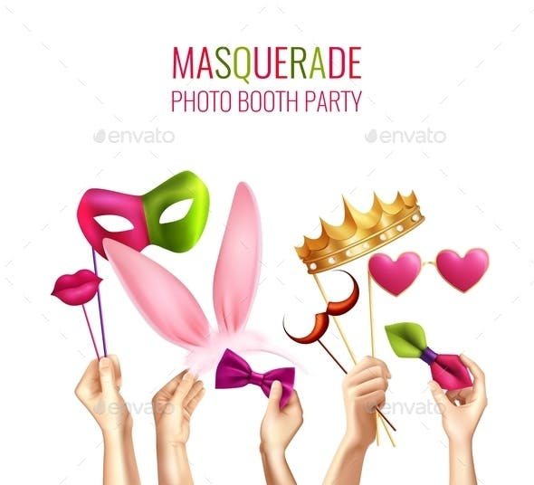Photo Booth Masquerade Background