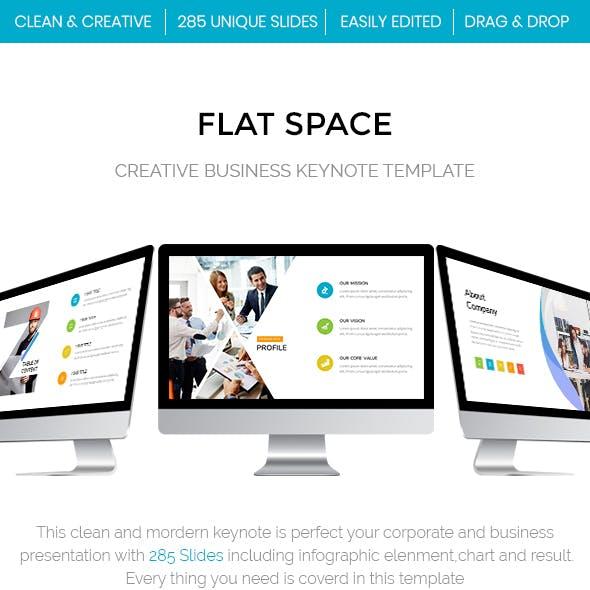 Flat Space - Creative Business Keynote Template