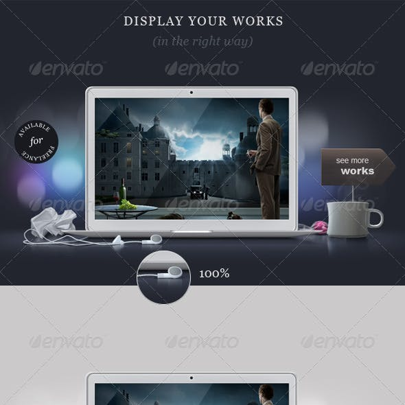 Designer's Desk Portfolio Concept