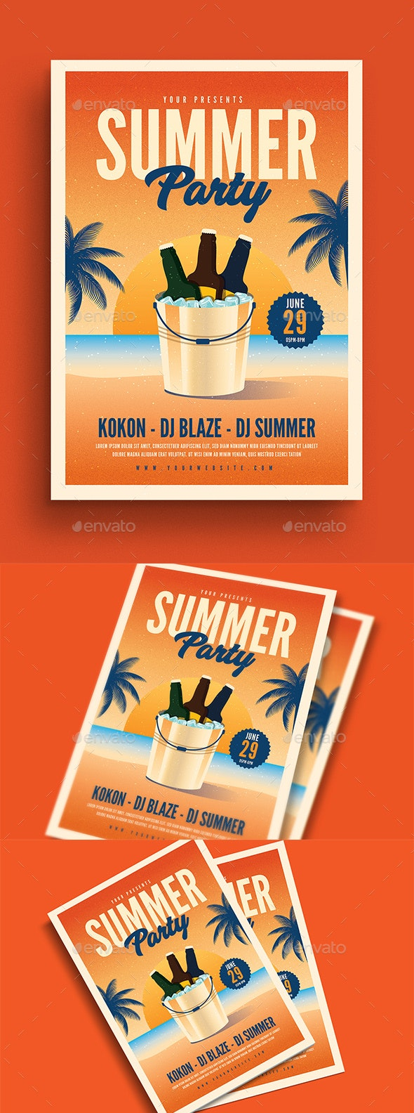 Summer Beer Party Event Flyer - Events Flyers