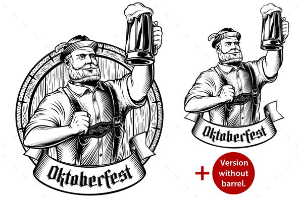 Oktoberfest Man German Beer - People Characters