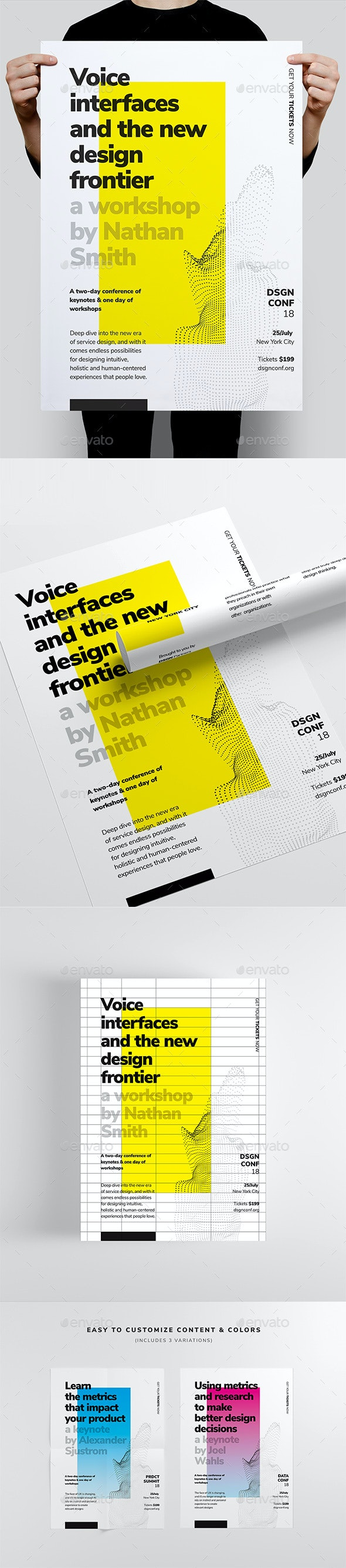 DSGN Series 2 Poster / Flyer Template - Corporate Business Cards