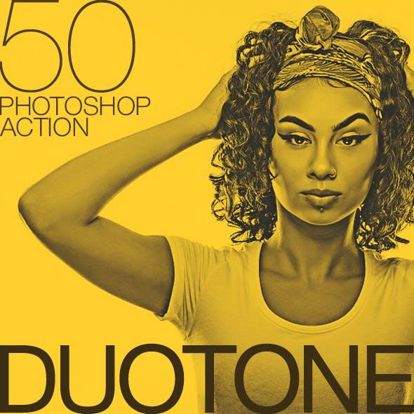 50 Doutone Photoshop Actions