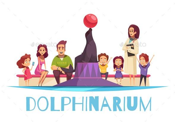 Family Dolphinarium Flat Background