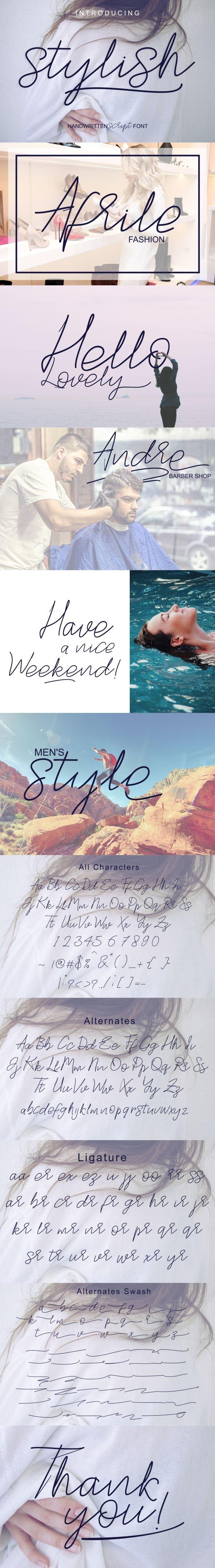 Stylish Script - Script Fonts