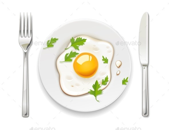 Scrambled Eggs - Food Objects