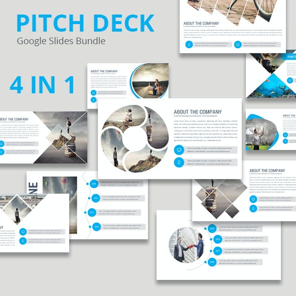 Pitch Deck - 4 In 1 Google Slides Bundle