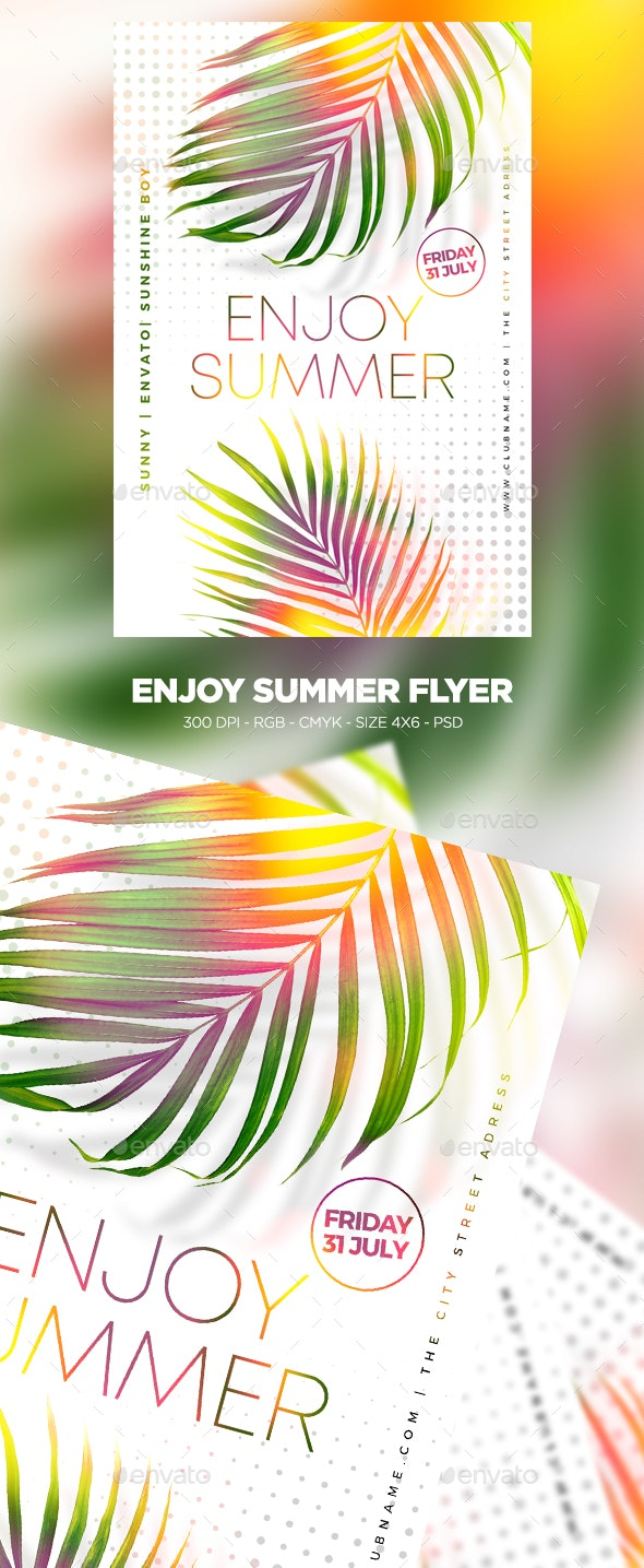 Enjoy Summer Flyer - Clubs & Parties Events