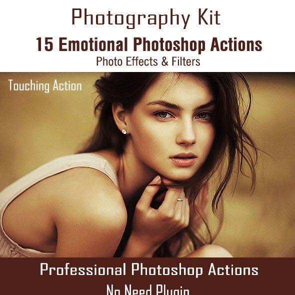 15 Emotional Photoshop Actions