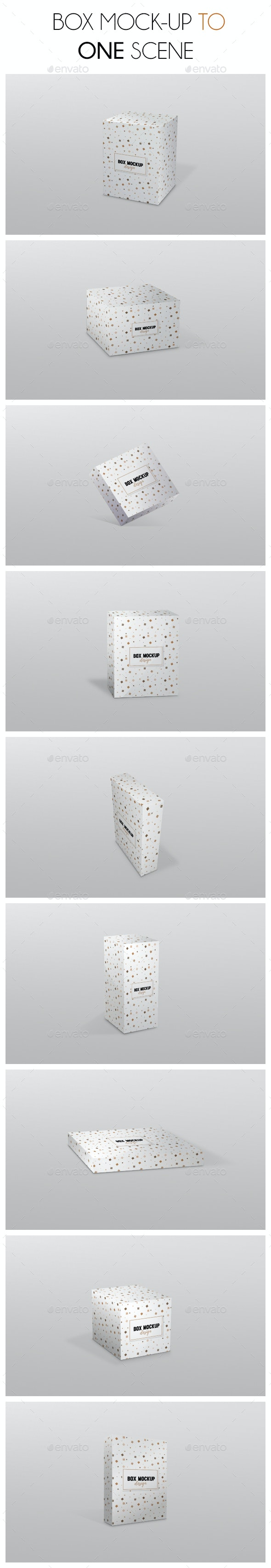 Box Mockup Scene - Miscellaneous Packaging
