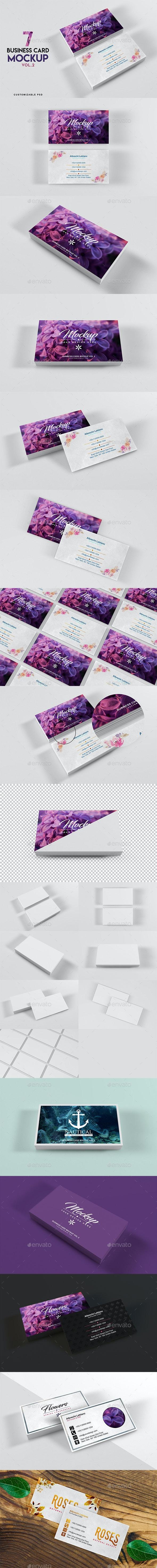 Business Card Mockup Vol 2 - Business Cards Print