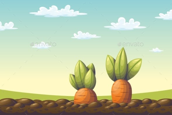 Two Carrots on a Field