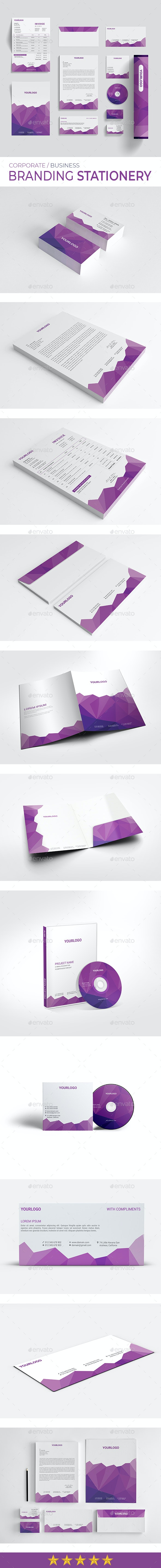 Corporate Branding Stationery - Stationery Print Templates