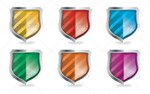 Vector Shield Icon Set - Decorative Vectors
