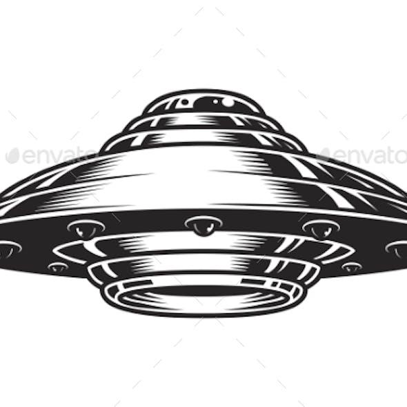 Vintage UFO Spaceship Concept