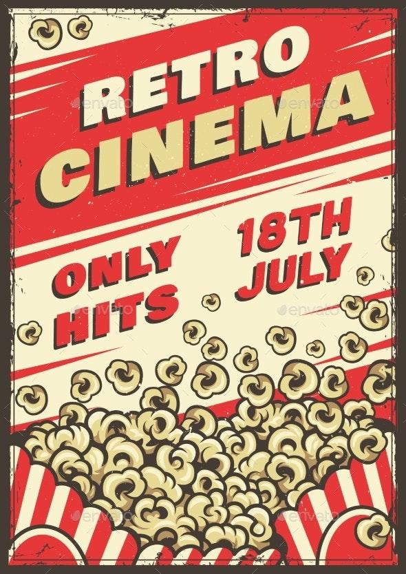 Cinema Vintage Poster - Miscellaneous Vectors