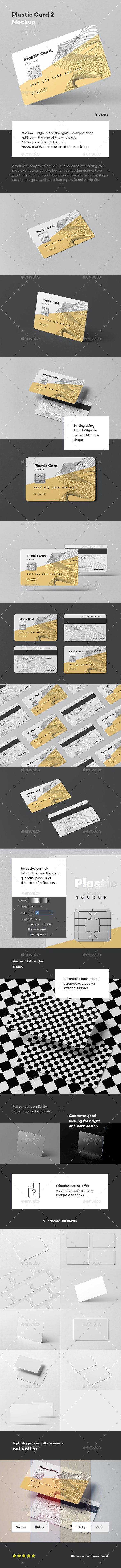 Plastic Card Mock-up 2 - Business Cards Print