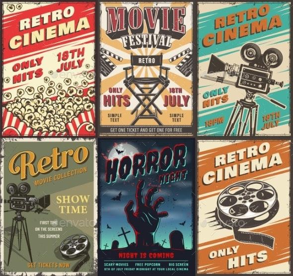 Cinema Set of Posters - Miscellaneous Vectors