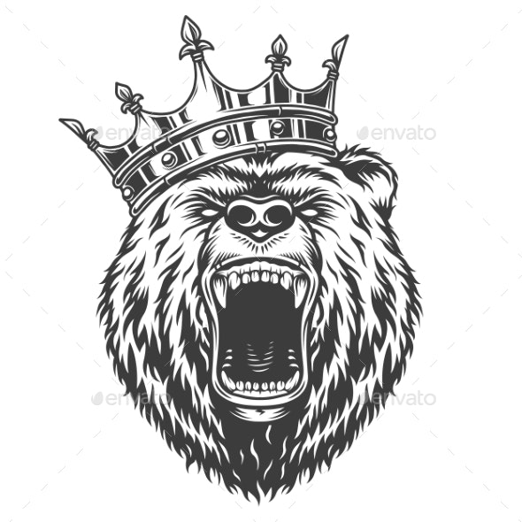 Vintage Logo Style Bear - Animals Characters