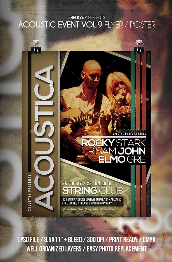 Acoustic Event Flyer / Poster Vol 9 - Events Flyers