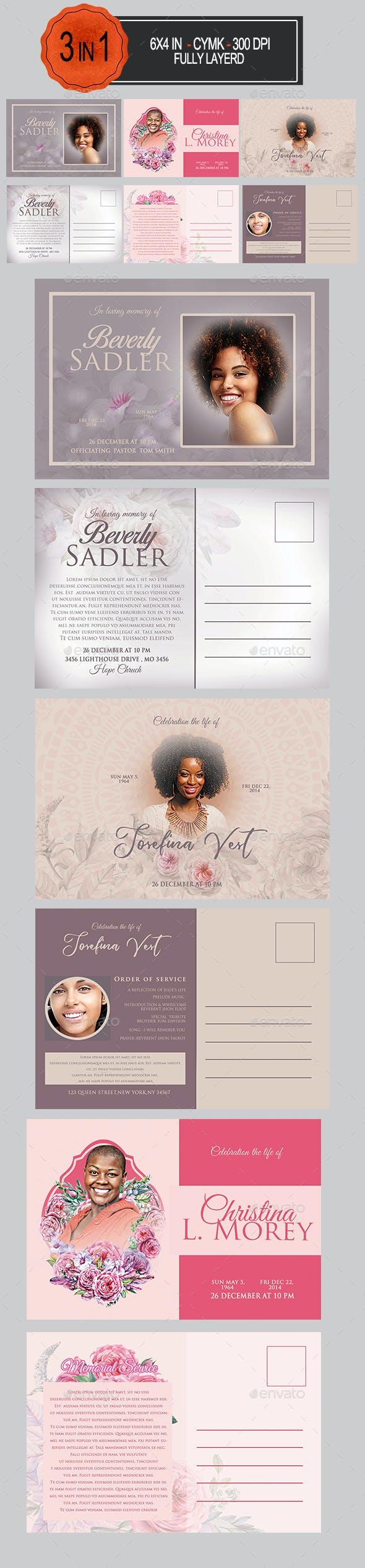 Funeral Postcard Bundle