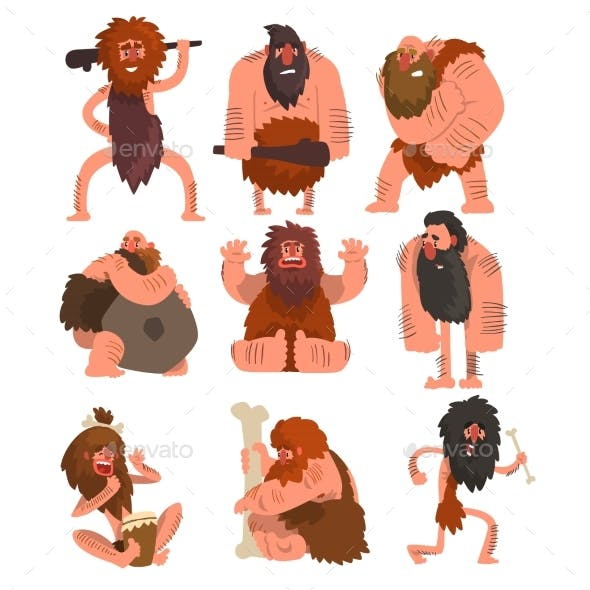 Primitive Cavemen Set