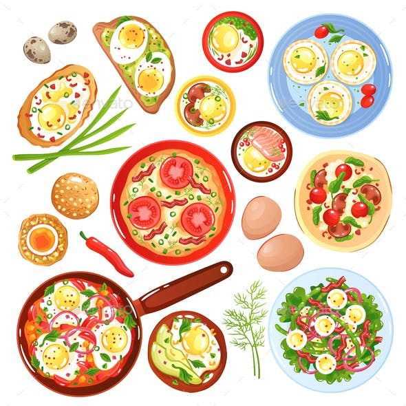 Egg Dishes Set